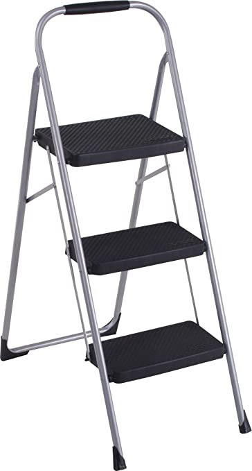 Assist Reaching Higher Stable Stool Supports 500 Pounds Extra Wide Step Stool