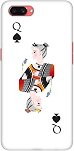 Stylizedd Oppo A3s Slim Snap Basic Case Cover Matte Finish - Queen Of Spades