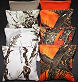 corn bags for hunting - CORNHOLE BEAN BAGS All Weather Resin Filled REALTREE Orange Camo Hunting Fishing