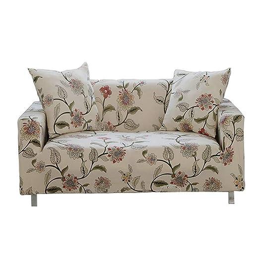 ENZER Funda de sofá Tejido Elástico Flor Pájaro Sofá Proteger Cubre sofá 1 Plaza(90-140cm),Vid de la flor(Flower Vine)