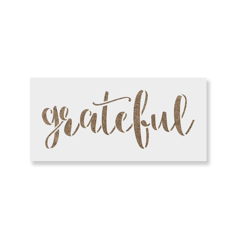 【期間限定】 Grateful Signステンシルfor Wordのと工芸 8.5\ – B0767HSJQP 再利用可能なステンシル壁が