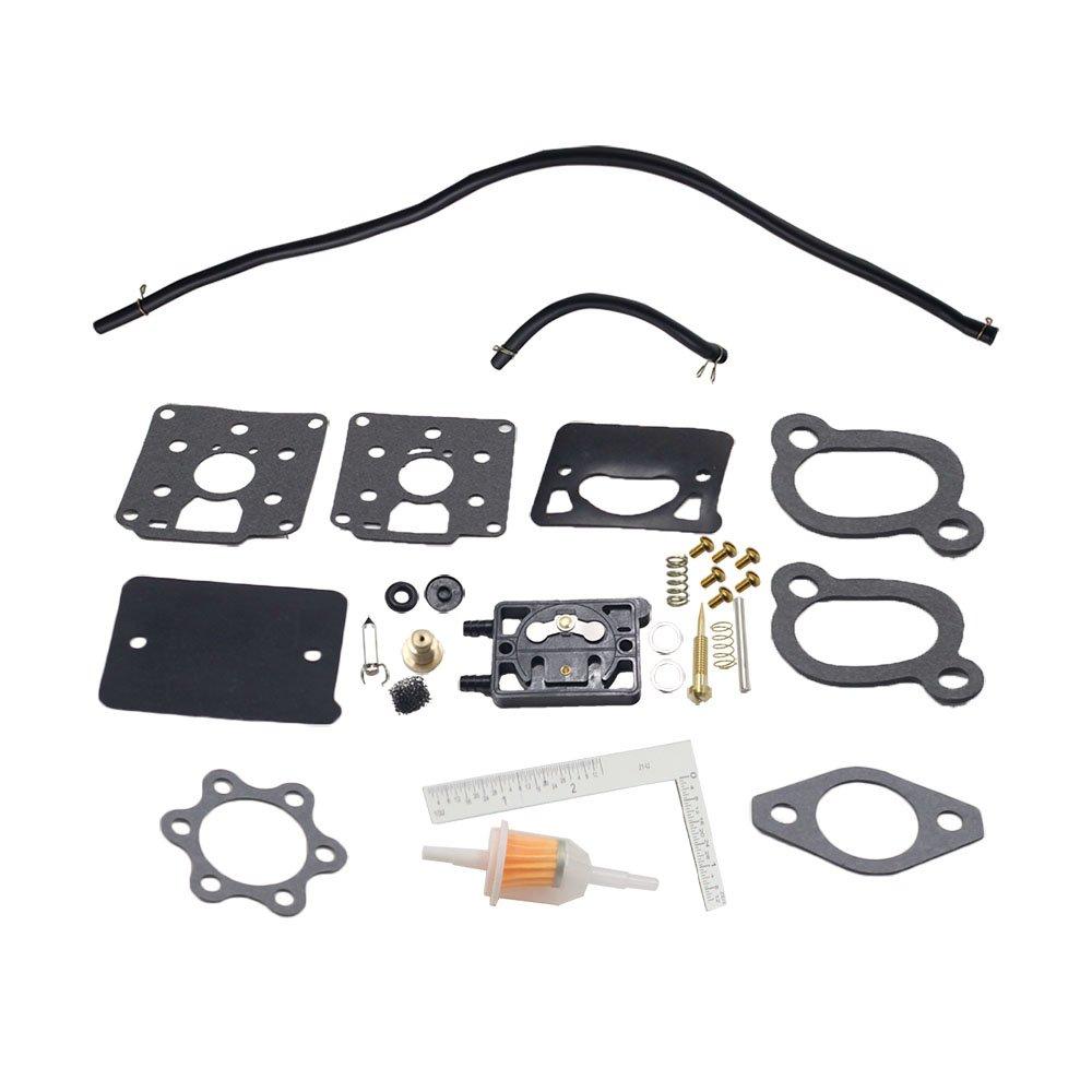 iFJF Carburetor Kit fits ONAN Engine Model DD11 DD13 DD15 With Fuel Pump BF  BG B43M B48M Replaces Onan Kit 142-0570