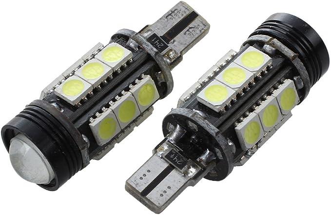 SODIAL 2pcs T15 W16W 16-SMD 5050 LED Gire la Bombilla de Senal Blanca DC 12V R