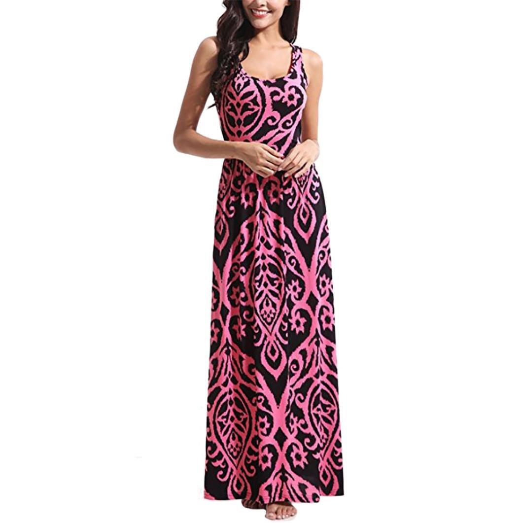 Vestidos Mujer Verano 2018,Mujer Bohemia Maxi verano playa larga cóctel fiesta vestido floral LMMVP (S, M): Amazon.es: Belleza