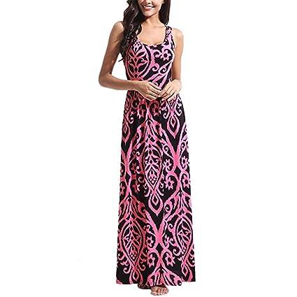 Vestidos Mujer Verano 2018,Mujer Bohemia Maxi verano playa larga cóctel fiesta vestido floral LMMVP
