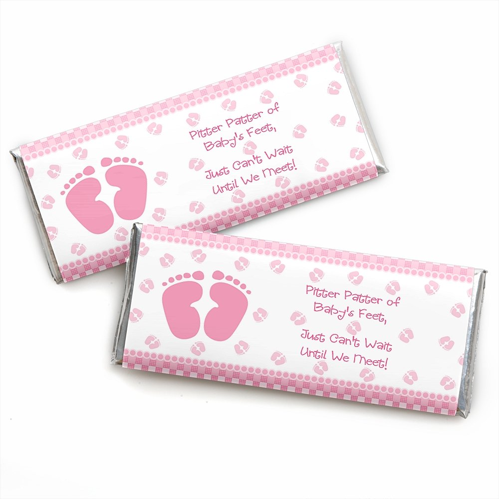 Amazon.com: Baby Feet Pink - Candy Bar Wrappers Girl Baby Shower ...