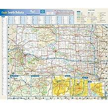South Dakota State Wall Map - 17.75 x 15.25 inches - Laminated