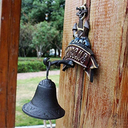 アンティークドアベル鳥鋳鉄ベルホームデコレーションクラシックレトロ壁画ドアベル壁画中庭