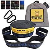 Wise Owl Outfitters Hammock Straps By Combined 20 Ft Long, 38 Loops W/2 Carabiners - Easily Adjustable, Tree Friendly Must Have Gear For Camping Hammocks Like Eno
