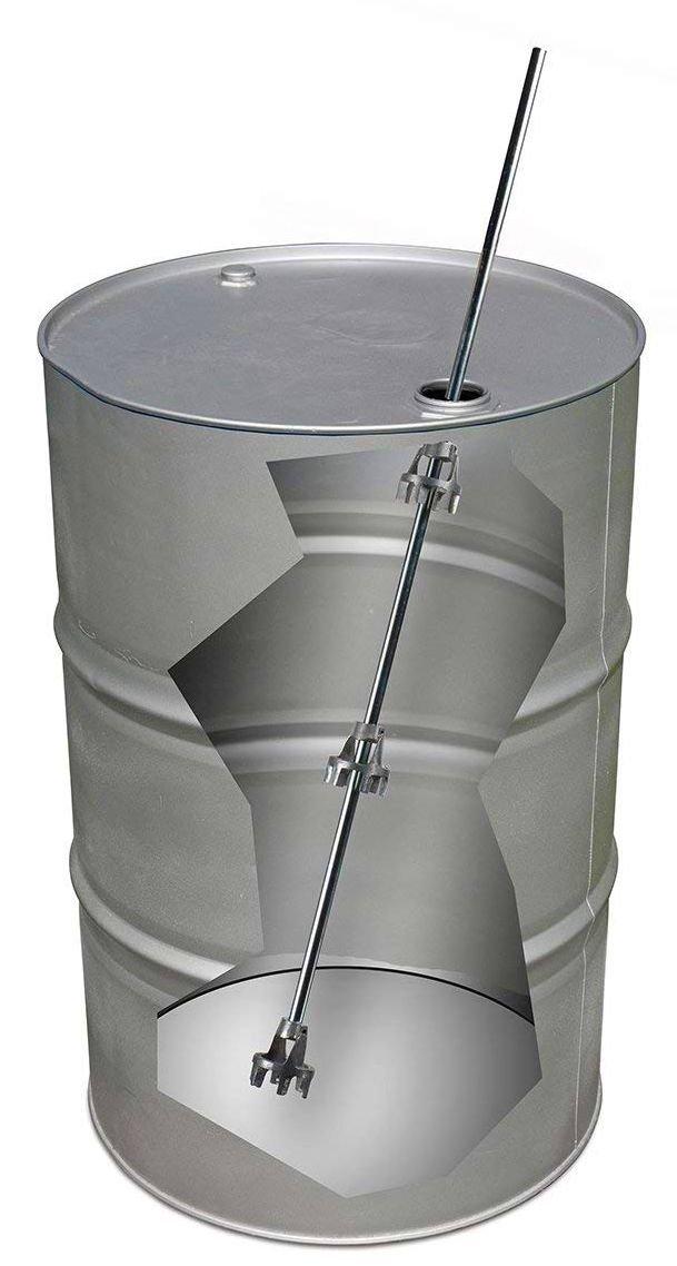 Drum Mixer Blade for Tight Head 55 Gallon Barrel-36 Shaft