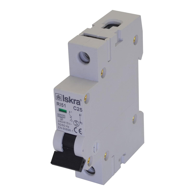 Sicherungsautomat Sicherungen Leitungsschutzschalter MCB Eco-Line 16A Typ C 1-polig 6KA 230/400V 1 Stü ck Spitzenspannung Elektrotechnik