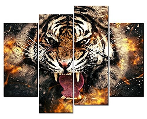 Womens Flaming Tiger - 2