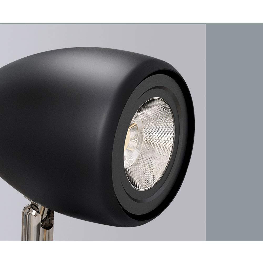 ZJⓇ Spotlight Track Light - Industrial Wind Corridor Light Track Lights - 4 Heads - 2 Colors (Black/White) && (Color : Black, Size : 9cm in Diameter) by ZJⓇ Spotlight (Image #3)