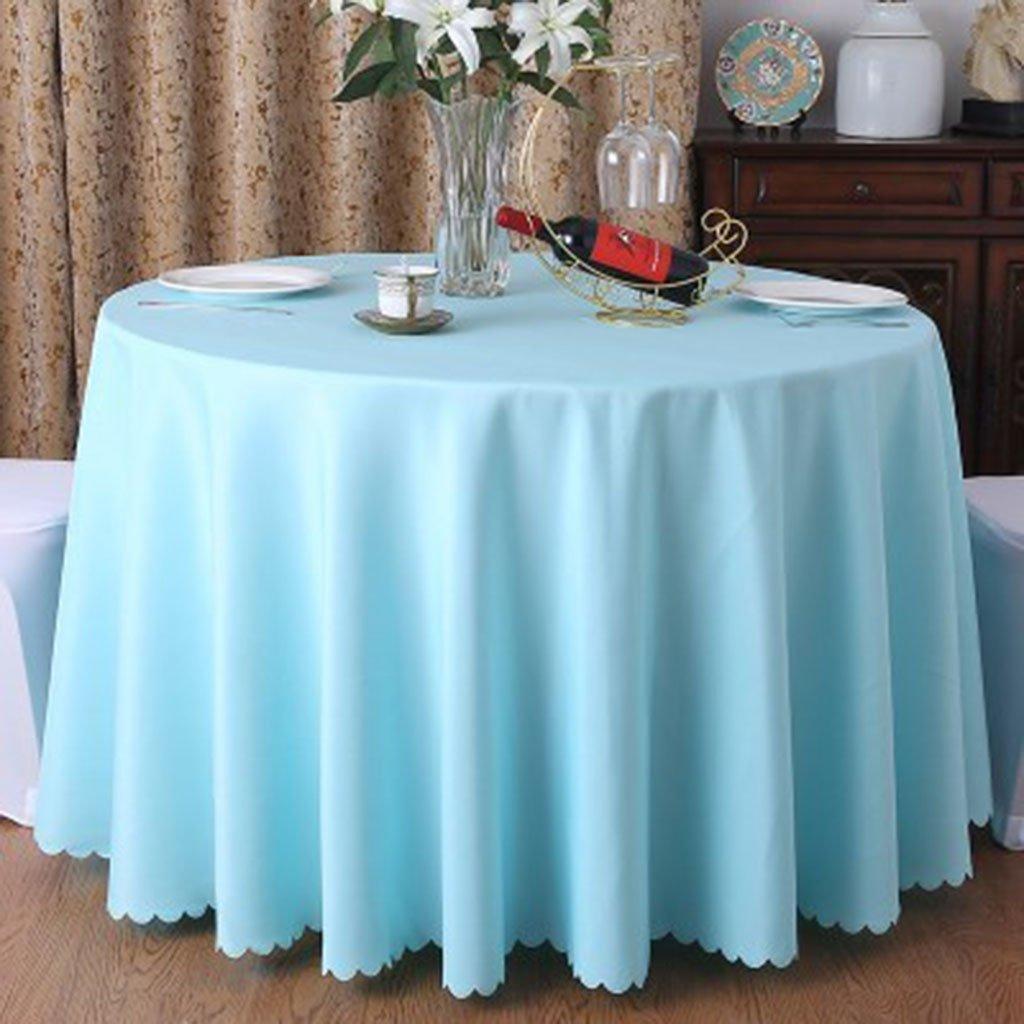Qiao jin Tischdecke Runde Tischdecke Tischdecke - Hotel Living Room Tischdecke - Hochzeit Tischdecke Pure Pigment S + (Farbe   F, größe   Round -220cm) B07CP6J1V9 Tischdecken Auktion  | Hat einen langen Ruf
