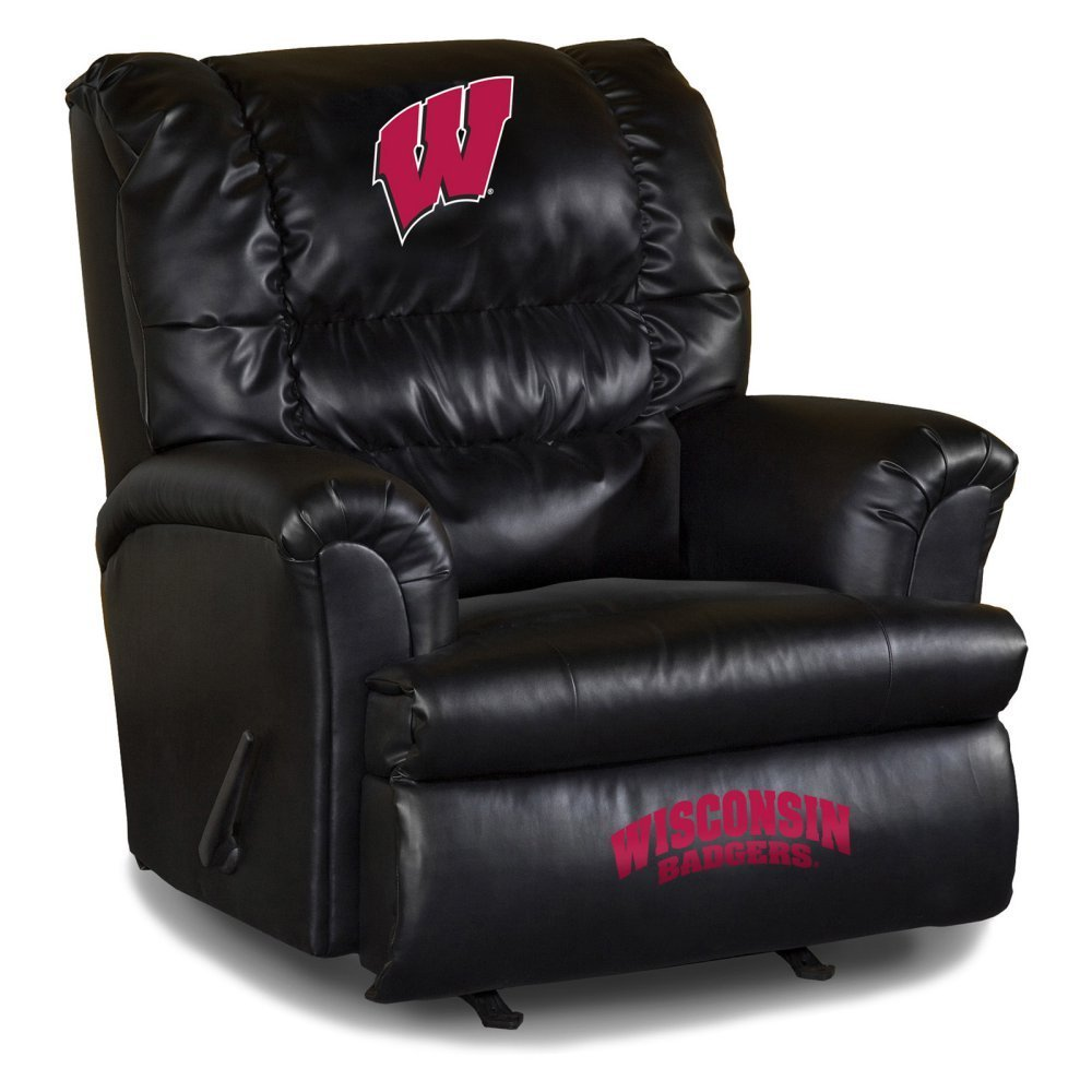 Imperial Officially Licensed NCAA Furniture: Big Daddy Leather Rocker Recliner, Wisconsin Badgers