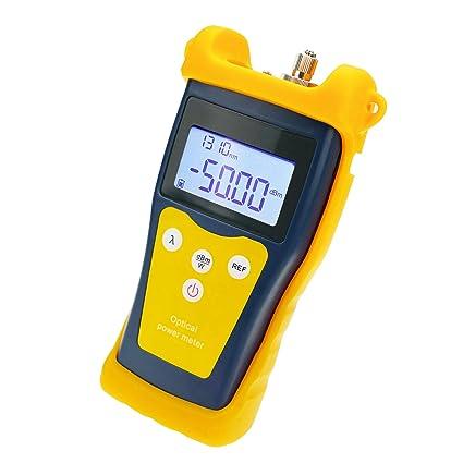 Medidor de alimentación óptico de fibra de sobremesa de mano con rango de detección de -