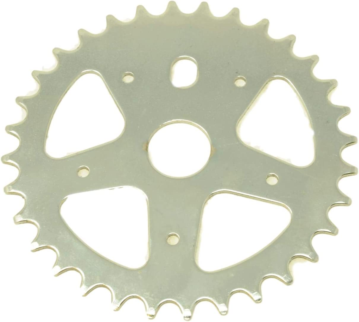 """ONE PIECE CRANK 3//32/"""" DOUBLE CHAINRING WITH GUARD 38//46 TEETH NOS CHAINWHEEL"""