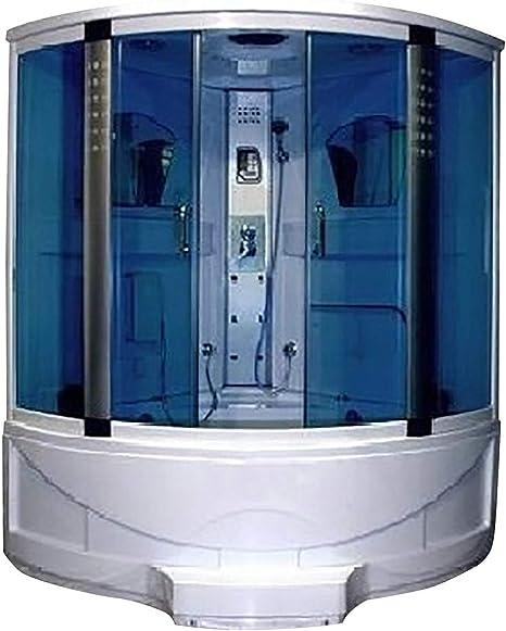 idroness mampara de Ducha de hidromasaje de baño Turco Angular 6 idrogetti 143 x 143 cm Camelia 53: Amazon.es: Hogar
