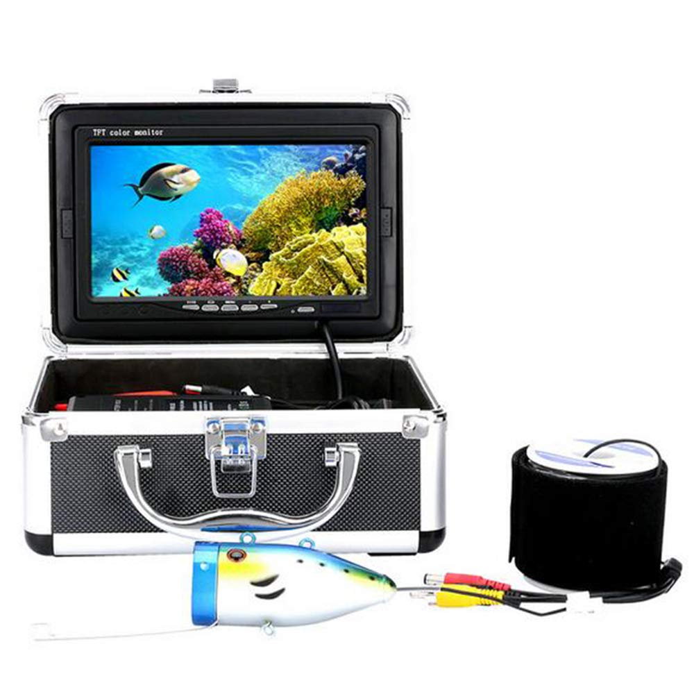 MICHEN 7  Pulgadas HD 1000tvl Kit de cámara de Video para Pesca submarina 12 PCS LED Weißs Video Fish Finder 15M 20M 30M 50M