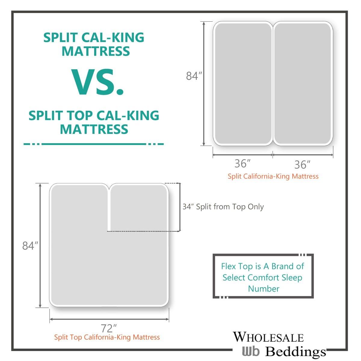 Sheetsnthings Split Top California King (Adjustable, Flex Top Cal King Size) 100% Cotton, Solid Burgundy, 300 Thread Count, Sateen Weave, Deep Pocket Bed Sheet Set