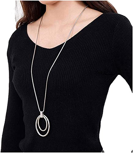 O-C Music Note Pendant Necklace Punk Leather Rope for Women Men