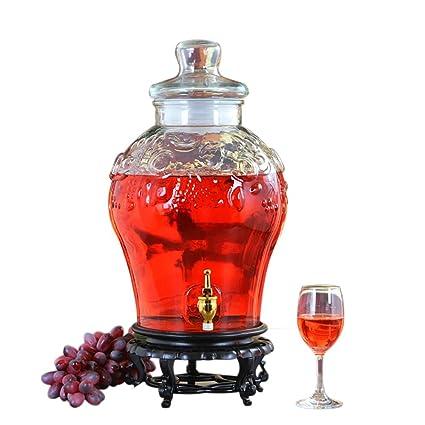 Aceitera y vinagrera Botella De Vidrio Espesada Sin Plomo Contiene Grifo Completo De Cobre + Base