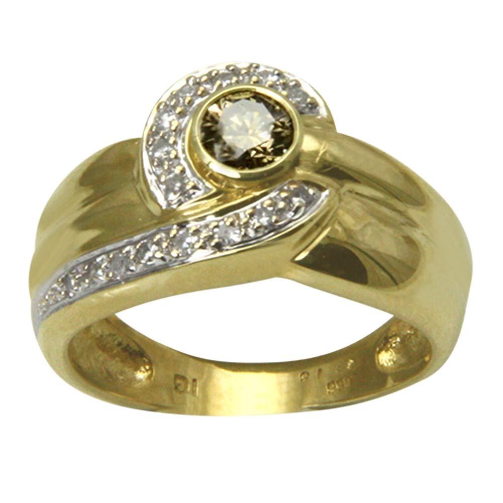 5377fd77dd1d SKIELKA DESIGNSCHMUCK Esquí Elka - Juego de diseño Joyas Diamante Oro Anillo  Bicolor Oro Herrero Trabajo (Oro Amarillo 585) - Anillo de Diamante - con  Valor ...