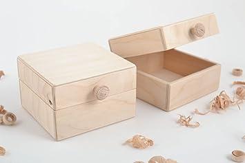 Cajas de madera para decorar artesanales articulos para pintar regalo original: Amazon.es: Hogar