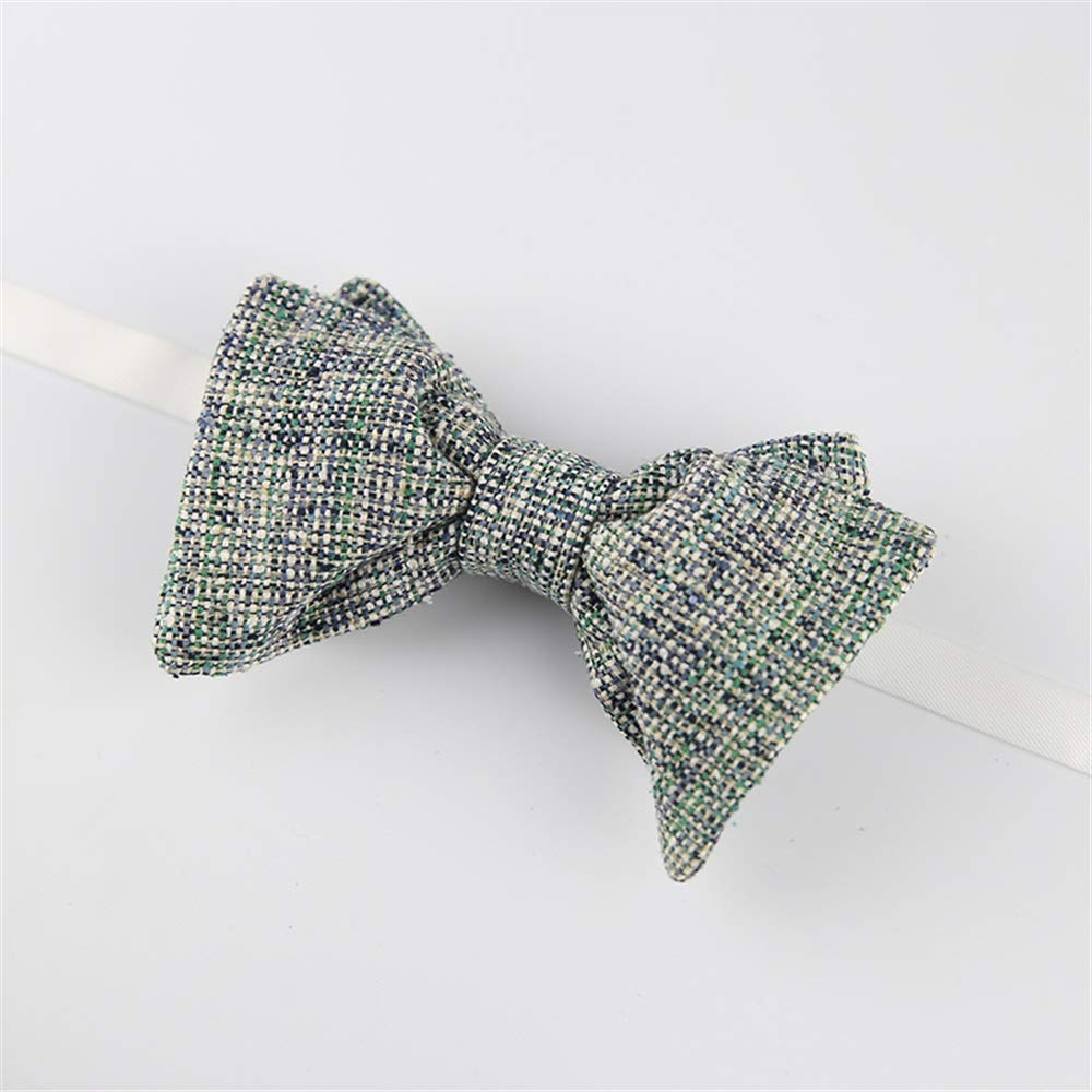 Dig Dog Bone Mens Tie Two-Layer Handmade Bow Tie Adjustable