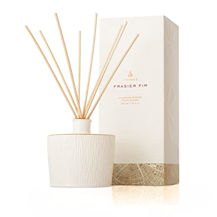 amazon com thymes frasier fir ceramic reed diffuser home kitchen