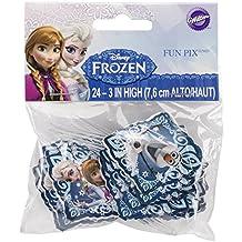 Wilton Industries 2113-4500 Disney Frozen Fun Pix Cupcake Decor