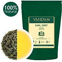 VAHDAM, Foglia di Tè Bianco Imperiale Earl Grey (25 tazze) | Tè SANO, foglie di tè bianche 100% NATURALI | ANTIOSSIDANTI POTENTI | Tè Earl Grey a foglia sfusa | Brew come tè caldo o tè freddo | 50gm