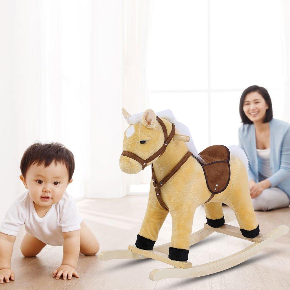 Baby Child Animal Rocking Horse Riding Balance Exercising Soft Plush Toy Pink