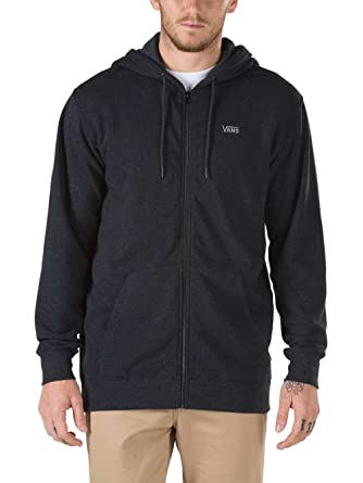 01b4859b34a485 Vans Core Basics Zip (Black Heather) Hoodie-Small