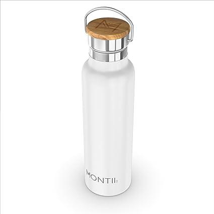 Montii – Botella de agua de acero inoxidable con aislamiento de 600 ml, color blanco