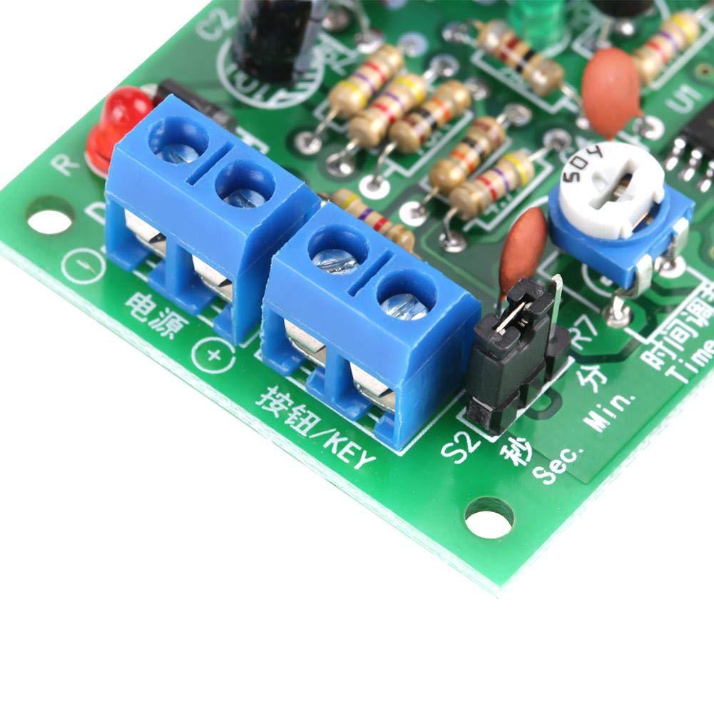 Akozon DC 12V Module de Relais de Minuterie de Temporisation Compte /à Rebours avec Affichage LED Num/érique Module de Commutation de Relais Relais Temporis/é 12V
