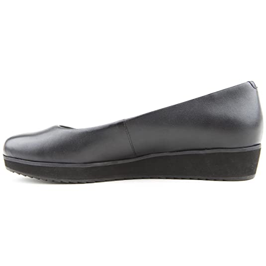 531d6aed5 Ladies Clarks Compass Zone Lea Black Leather Ballerina Shoes Size 7   Amazon.co.uk  Shoes   Bags