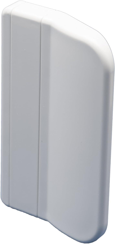 Tirador para puerta de balcón 911,diseño cuadrado para exteriores, incluye 2tornillos de montaje, en varios colores, 70x 45x 13mm, Blanco