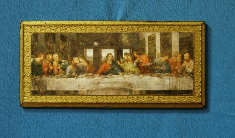 Last Supper Florentine plaque, 11 x 5 inches. Made in Italy.