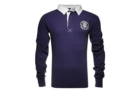 Vintage de Escocia camiseta de Rugby Azul azul Talla:XXL: Amazon ...