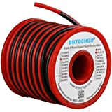 BNTECHGO 16 Gauge Silicone Wire 50 feet [25 ft Black And 25 ft Red] High Temperature Resistant Soft and Flexible 16 AWG Silicone Wire 252 Strands of copper wire
