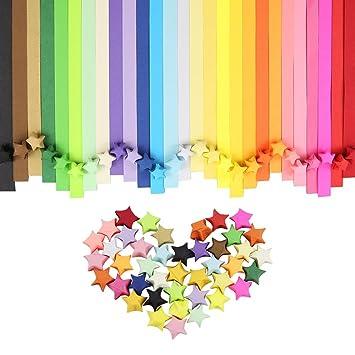 Htinac Origami Sterne Papierstreifen Papiersterne Falten Papier 27 Farben 1080 Streifen