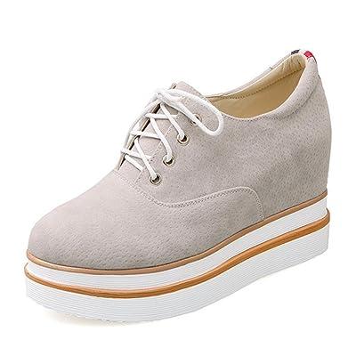 b74e5a3a27a La Sra primavera y otoño zapatos mollete zapatos de cordones de los zapatos  de fondo grueso dentro de los zapatos del elevador Sra.