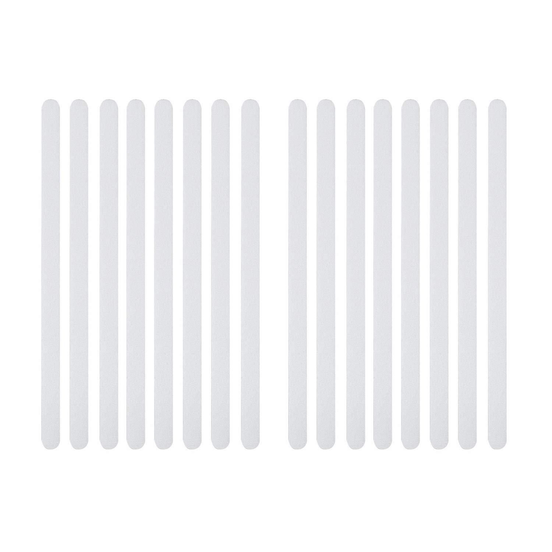 Incutex 8x tiras antideslizantes para ba/ño y ducha bandas transparentes longitudinales autoadherentes