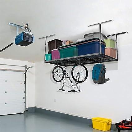 FLEXIMOUNTS 3x6 Overhead Garage Storage Adjustable Ceiling Storage Rack,  72u0026quot; Length X 36u0026quot;