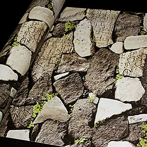 Yifely Faux Stone Brick Pattern Contact Paper Self-Adhesive Shelf Liner Countertop Sticker 17.7inch by 9.8 ()