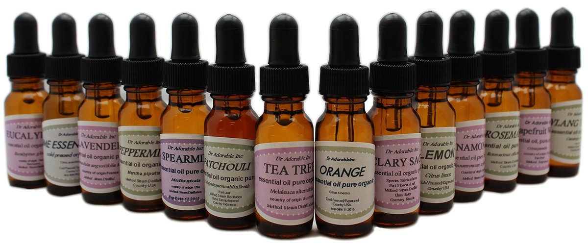 Beginners Best of the Best Aromatherapy 100% Pure Therapeutic Grade Essential Oil Set 14/0.6 oz (Lavender Tea Tree Eucalyptus Lemon Orange Peppermint Clary Sage Cinnamon Leaf Grapefruit Lime Patchouli Rosemary Spearmint Ylang Ylang)
