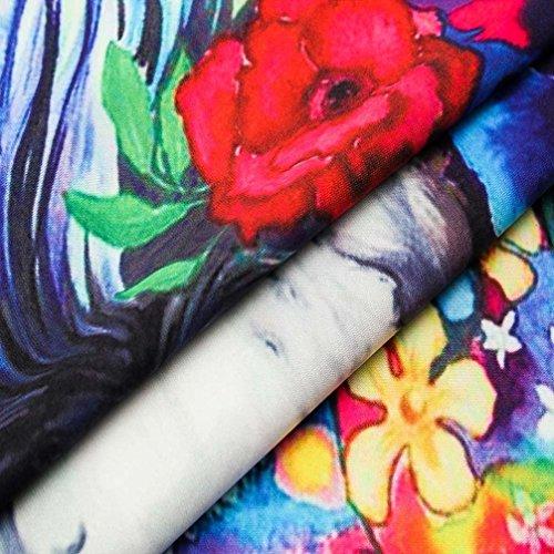 Amazon.com: ihph7 para hombre blusa, 3d animal flores retro ...