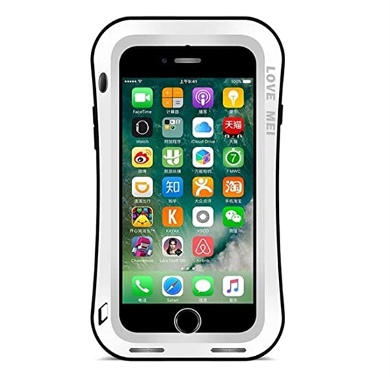 the latest e871e 83d3f iPhone 6 Plus/iPhone 6S Plus Water Resistant Bumper Case, CHEETOP Heavy  Duty Full Body Protection Shockproof Metal Cover with Gorilla Glass Screen  ...