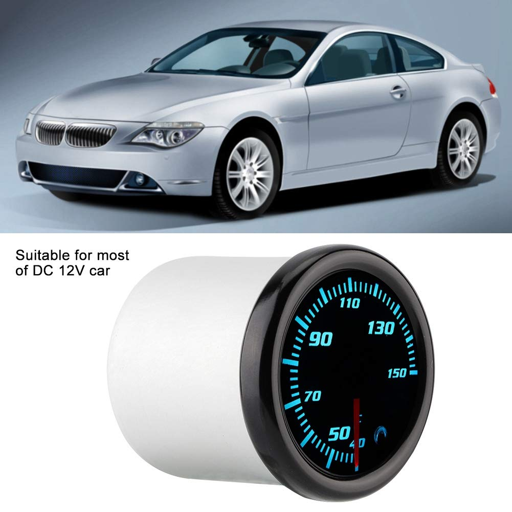KIMISS 2inch 10-15V Car Oil Temp Gauge Digital Oil Temperature Meter Gauge with Sensor 7 Color by KIMISS (Image #2)